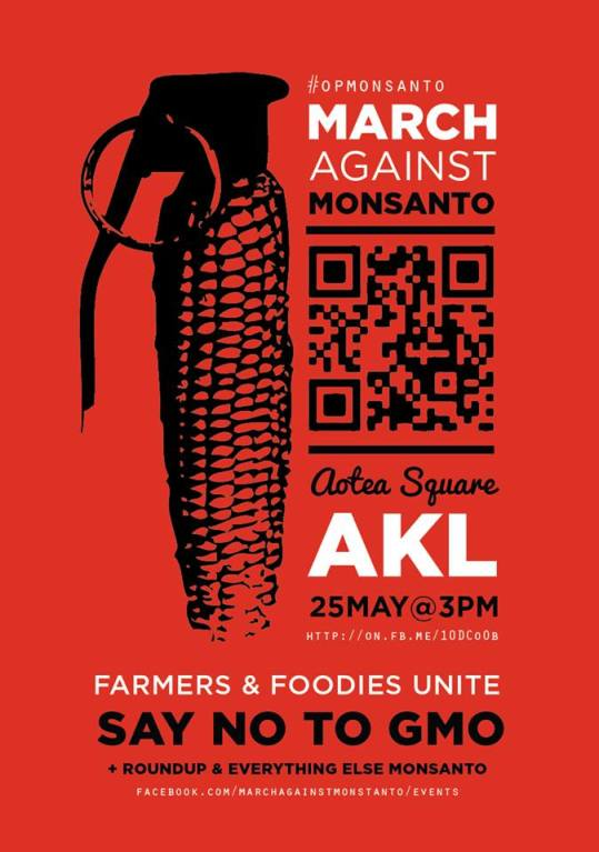 March Against Monsanto. 25 May 2013. Aotea Square. Auckland.